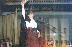 Reem Kelani performing in support of Medical Aid for Palestinians [MAP